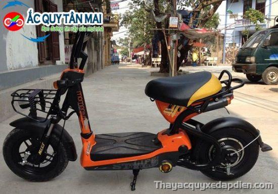 Thay ắc quy xe đạp điện M133