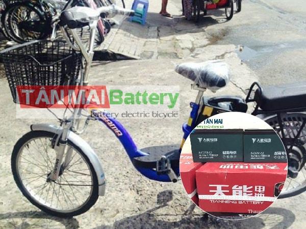 Thay ắc quy xe đạp điện Asama