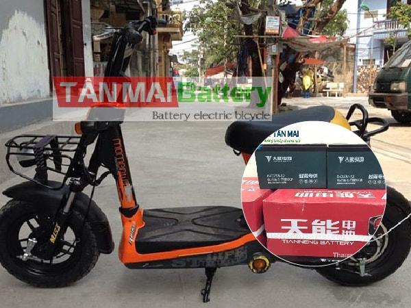 Thay ắc quy xe đạp điện 133 thường