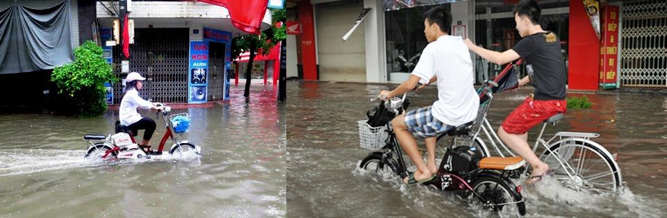 Xe bị ngập nước sẽ dễ khiến Xe đạp điện bị chập điện