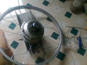 Xe đạp điện bị kêu bánh sau do Vành bị đảo