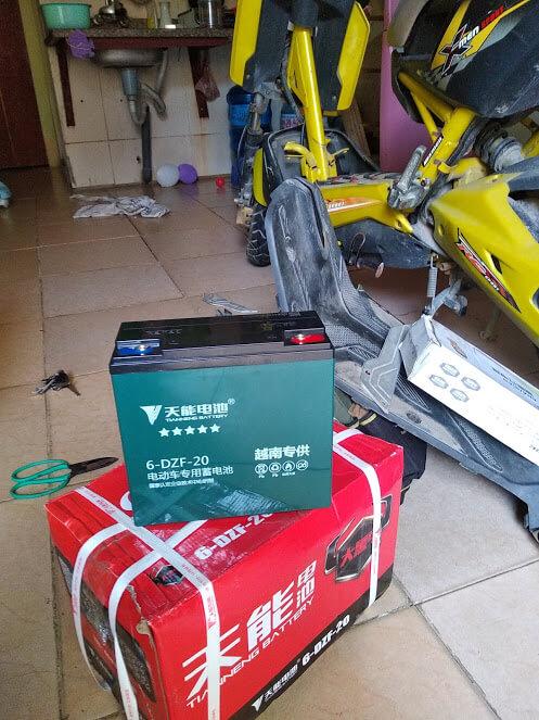 Ắc quy Thiên Năng cho xe máy điện