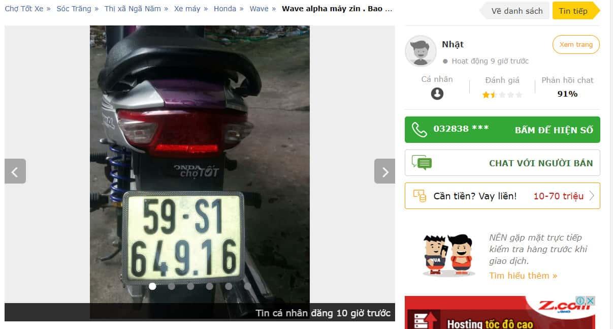 Chợ tốt xe máy sóc trăng