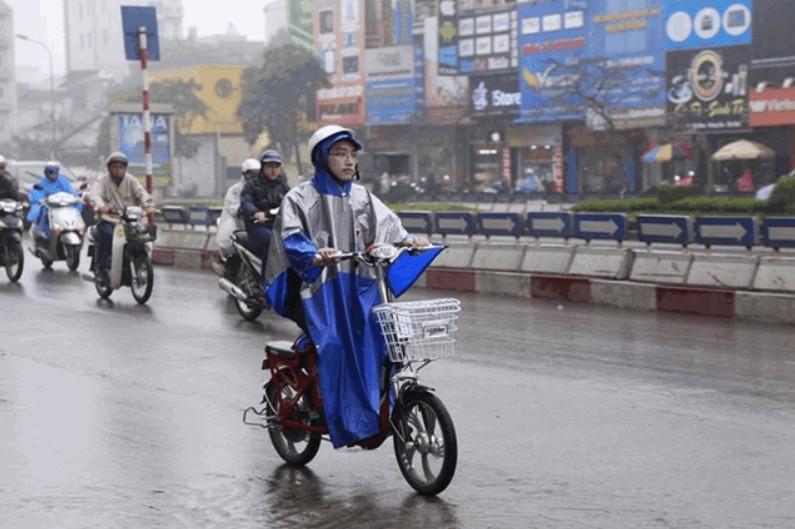 Xe đạp điện bị dính nước mưa