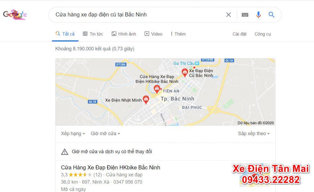 Tìm kiếm xe đạp điện cũ bắc ninh qua google