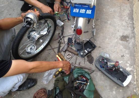 Sửa xe đạp điện ở Cầu Giấy