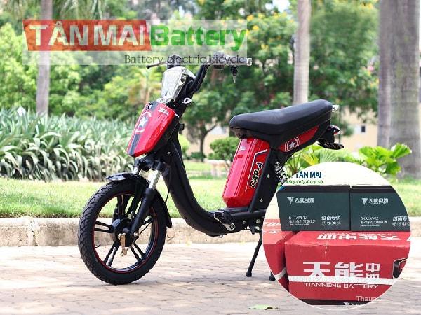 Thay ắc quy xe đạp điện pega tại HN